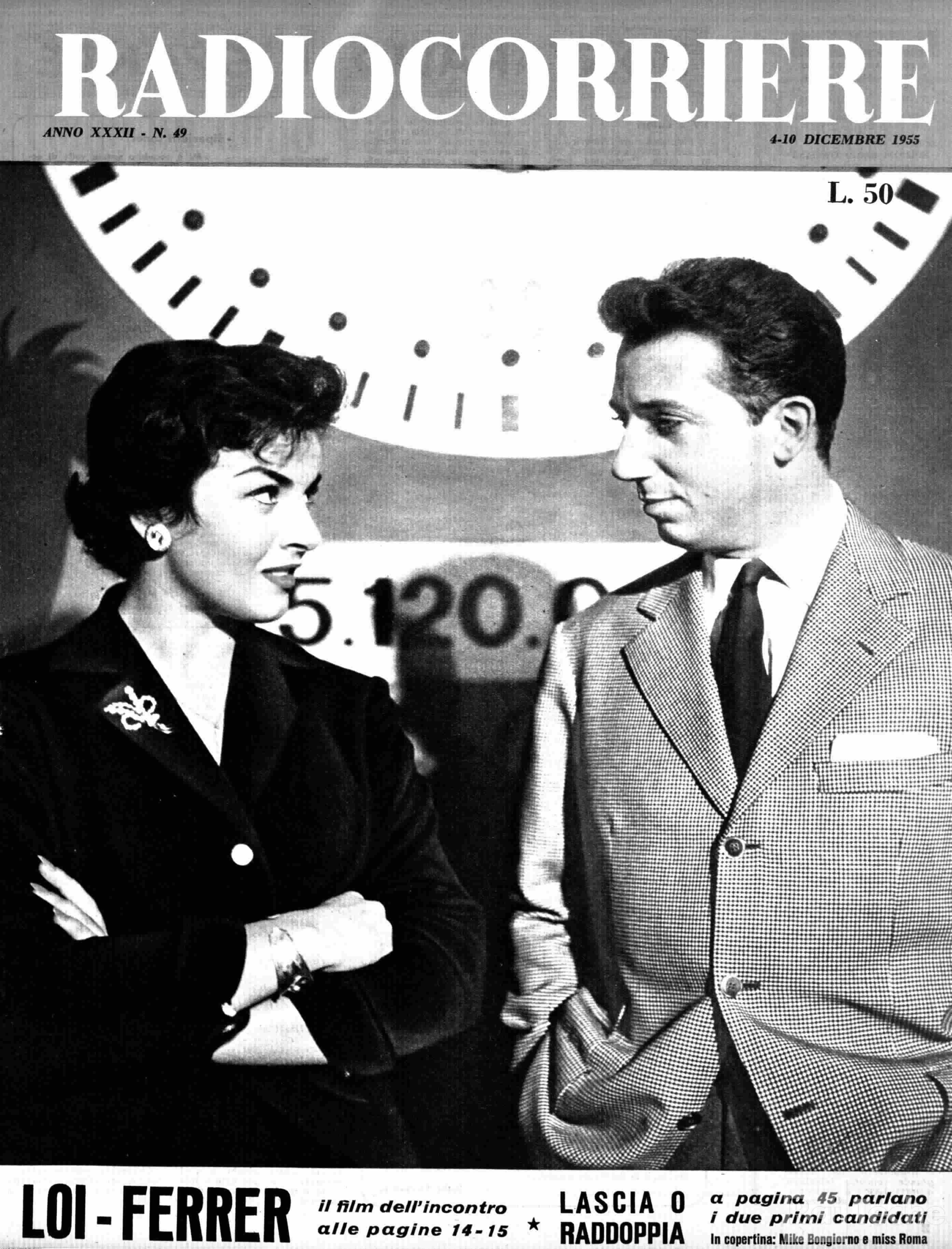 26 novembre 1955: prima puntata di