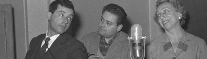 Radio Roma: Oreste Lionello, Franco Latini e Wanda Tettoni