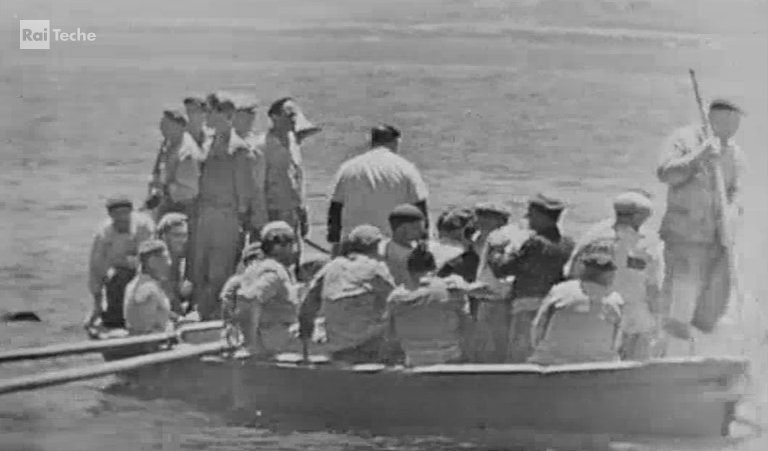 A Favignana la ripresa diretta da una tonnara nel 1958