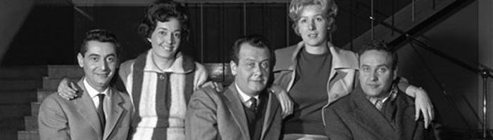 Compagnia radio Milano in posa (a destra Sandro Tuminelli)